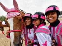 The Pink Caravan Ride, a UAE-based initiativeseeks to raise awareness of self-examination for breast cancer. AFP