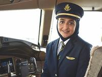 First officer Sheikha Mozah Al Maktoum is the first female commercial pilot from Dubai's royal family. (Twitter)
