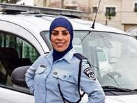 Sabreen Saadi, a Palestinian citizen of Israel, has gone viral after a photo of her in an Israeli police uniform. (Twitter)