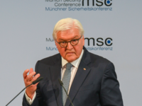 German President Frank-Walter Steinmeier speaking at the Munich Security Conference in Munich. AFP