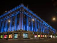 Selfridges was also lit in blue on Thursday supporting NHS. (Twitter)