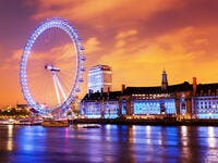 London, England the UK skyline in the evening. Ilumination of the London Eye and the buildings next to River Thames.(Shutterstock/ File Photo)
