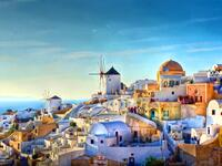 The famous view over the village of Oia at the Island Santorini, Greece (Shutterstock)