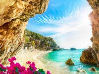 Beautiful view over the sea beach in Corfu island, Pelion, Mylopotamos, Greece (Shutterstock)