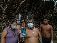 The Brazilian state of Amazonas, home to most of the country's indigenous people, is one of the regions worst affected by the pandemic, with more than 500 deaths to date according to the health ministry. RICARDO OLIVEIRA / AFP