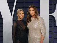 Sophia Hutchins, Caitlyn Jenner at the 2019 Vanity Fair Oscar Party at The Wallis Annenberg Center. (Shutterstock/ File Photo)