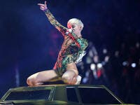 Miley Cyrus performs in concert at the Barclays Center on April 5, 2014 in Brooklyn, New York. (Shutterstock/ File Photo)
