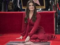 Actress Idina Menzel is honored with a star on the Hollywood Walk of Fame, in Hollywood, California on November 19, 2019. (Mark RALSTON / AFP)