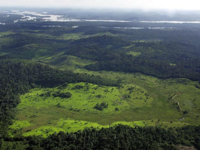 Overview of a deforested area in the border of Xingu River in northern Brazil (AFP photo)