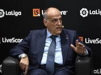 "The Switzerland-based tribunal is ""dead"", La Liga's chief declared in response to the decision to commute the Premier League club's suspension (Photo: AFP)"