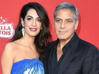 George Clooney and his Lebanese wife Amal  (Twitter)
