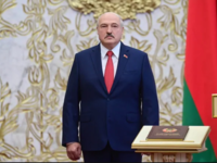 Belarusian President Alexander Lukashenko attends his inauguration ceremony in Minsk on Wednesday. (Andrei Stasevich/BelTA/AFP/Getty Images)