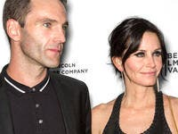 Johnny McDaid (L) and director - actress Courteney Cox attend the premiere of 'Just Before I Go' during the 2014 Tribeca Film Festival (Shutterstock/ File Photo)