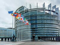 Exterior of European Parliament (Louise Weiss building, 1999) in Wacken district of Strasbourg. (Shutterstock/ File Photo)