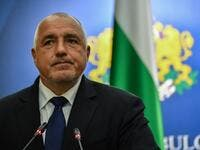 In this file photo taken on April 24, 2018 Prime Minister of Bulgaria Boiko Borisov addresses a press conference at the end of the high-level quadrilateral meeting Romania-Bulgaria-Greece-Serbia at the Victoria Palace, the Romanian Government headquarters in Bucharest. AFP