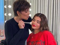 Kylie recently shared a video of herself letting Kris have a go at doing her makeup in a on YouTube.