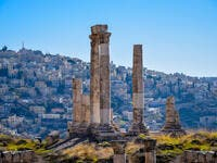 Temple of Hercules, the number one and most visited tourist attraction of Amman, capital city of Jordan  (Shutterstock)
