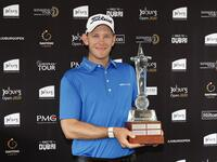 Hansen with the Joburg Open trophy (Photo: Supplied)
