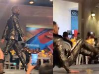 Ouch! Mohamed Ramadan Falls Hard on Stage During DIAFA Festival in Dubai (Video)