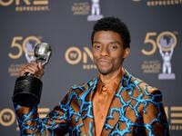 Chadwick Boseman at the 50th NAACP Image Awards. (shutterstock)