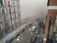 Gas explosion destroys nursing home in Madrid; unknown injuries