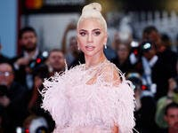 Lady Gaga attends the premiere of the movie 'A Star Is Born' during the 75th Venice Film Festival. (Shutterstock)
