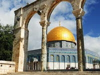 Dome of the Rock in Jerusalem over the Temple Mount. Golden Dome is the most known mosque and landmark in Jerusalem and sacred place for all muslims  (Shutterstock)