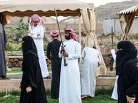 Taashir is a war dance performed in Taif