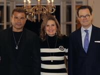 French Ambassador in Egypt Hosts Amr Diab and Youssra in What He Called 'An Evening of Music and Culture'