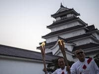 The Tokyo Olympic torch relay began on March 25 in Fukushima (Photo: AFP)