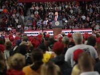During a political rally in Mississippi on Tuesday night, Trump mockingly mimicked Ford, claiming her allegations against Kavanaugh lacked sufficient detail. (Scott Olson/Getty Images/AFP)