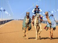 Practicing for camel racing at the Dubai Camel Racing Club (Shutterstock/File Photo)