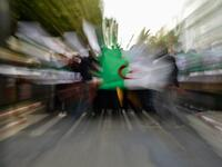 Algerian students protest in the capital Algiers against ailing President Abdelaziz Bouteflika's bid for a fifth term