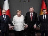 The leaders of Turkey, Russia, France and Germany are set to meet in Istanbul to try to find a lasting political solution to the Syrian civil war and salvage a fragile ceasefire in a rebel-held northern province.  (MAXIM SHIPENKOV / POOL / AFP)