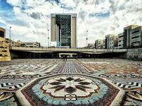 World's largest mosaic carpet has turned into a major tourist attraction in Iran's city of Tabriz (Twitter)