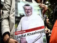 Protest for Khashoggi at Saudi embassy in US. (Twitter)