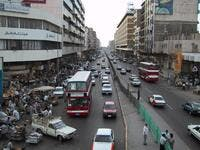 Al-Jamhuri street, Baghdad downtown, Iraq in 2001. Before war. (looklex.com)