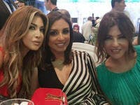 "Nawal Al Zoghbi posted a picture with Egyptian star Angham and Morrocan Diva Samira Said captioning it ""Love you"""