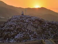 On the 9th of the month of Dhu al-Hijjah pilgrims go to Arafat from Mina, for the most important part of the Hajj. (Twitter)