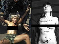 Germany Brazil FEMEN topless protest