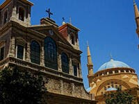 Lebanon tolerates variety- with its churches side by side with Mosques