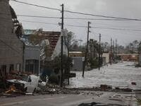 The hurricane hit the Florida Panhandle as a category 4 storm. (Joe Raedle/Getty Images/AFP)