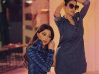 Haifa posted a picture earlier with her sister while shopping