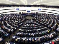 Plenary hall of European parliament in Strasbourg (Shutterstock)