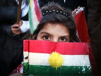 The flag of Kurdistan (Twitter) (Shutterstock)
