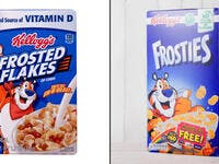 1. Kellogg's cereal: Frosties/Frosted Flakes:
