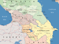 Map of the Caucasus region /Shutterstock