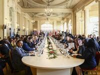 Libya's key political players met with global leaders in Palermo, Italy, in 2013 to kickstart a poliical process and elections. Since then little has changed inside the country. /AFP