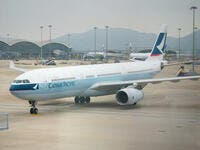 7. Cathay Pacific Airways: The Hong Kong-based Cathay Pacific Group offers scheduled passenger and cargo services to over 200 destinations in Asia, North America, Australia, Europe and Africa, using a fleet of close to 200 aircraft. Cathay Pacific is a founder member of the oneworld global alliance and Cathay Dragon is an affiliate member.