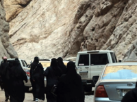 Tourist guide Hiba al-Aaidy said that this was the first all-female group to visit the region.